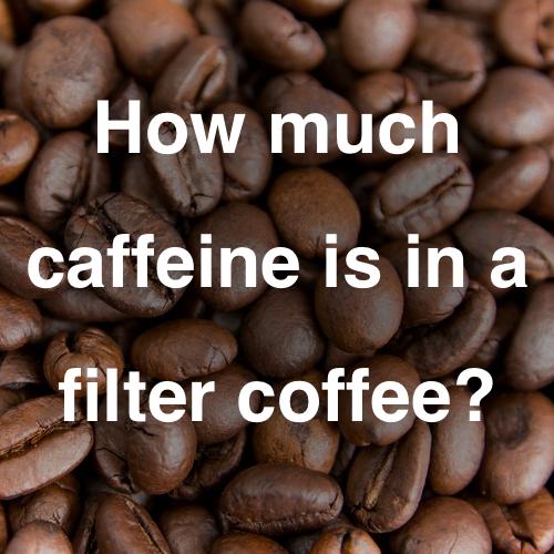 How much caffeine is in ground coffee?