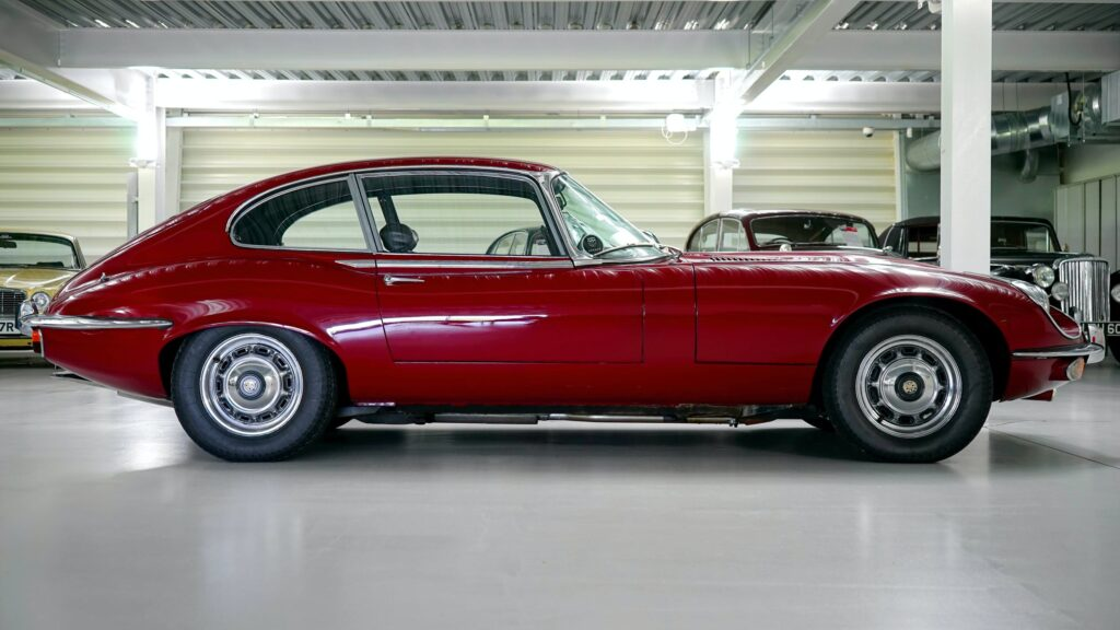 Picture of a red classic car